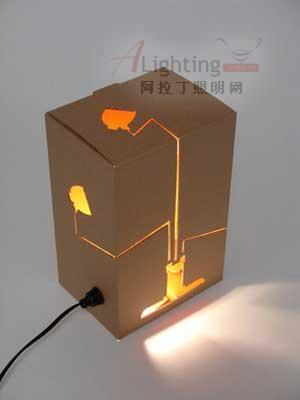 diy创意 包装纸盒设计灯罩(图)