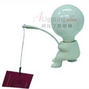 可爱小人灯具 悠闲垂钓生活(图)