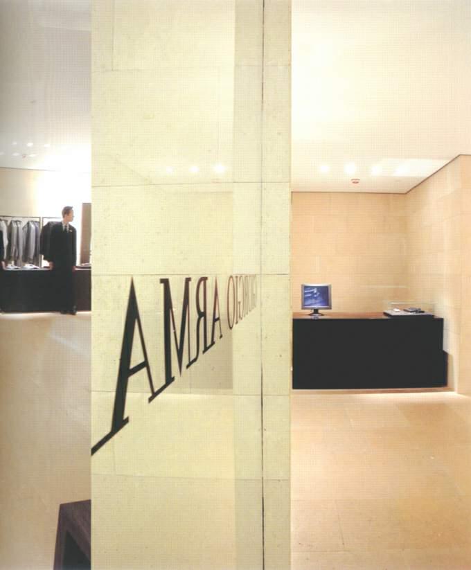 香港中环阿玛尼专卖店灯光设计(图)